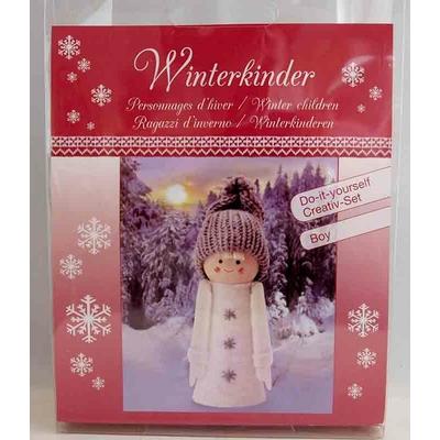 """Kit créatif - 1 figurine """"personnages d'hiver - garçon"""" à habiller  - Glorex"""