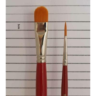 Set 2 brosses à tableau fibre synthétique - 1 Forme usée bombée -1 ronde