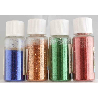 4 flacons de paillettes ultra-fines - couleurs assorties - 4X8g