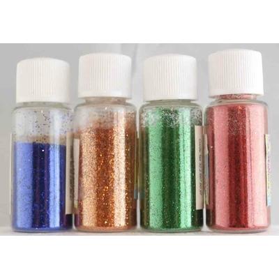 4 flacons de paillettes ultra-fines - couleurs assorties - 4X8g