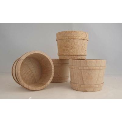 4 mini seaux en bois - 45X58mm