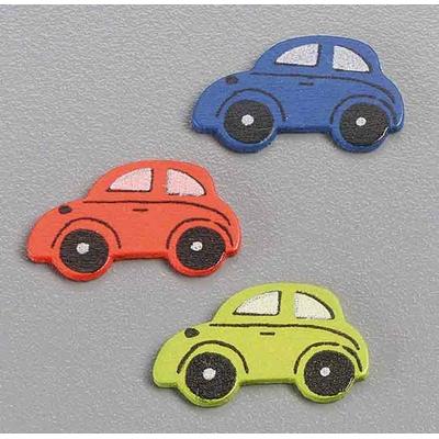 15 formes en bois décorées - voitures
