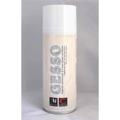 Gesso blanc aérosol - 400ml - Manet