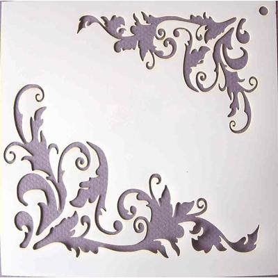 "Pochoir motif ""Flourish"" - 14,7X14,7cm"