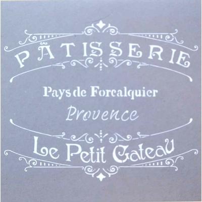 """Pochoir motif """" pâtisserie de Provence"""" - Americana Decor Stencil - 30,5X30,5cm"""