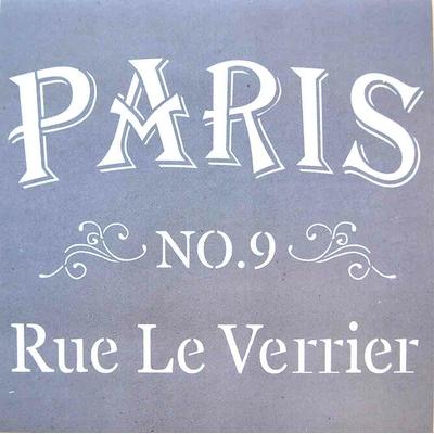 """Pochoir motif """"Une rue de Paris"""" - Americana Decor Stencil - 30,5X30,5cm"""