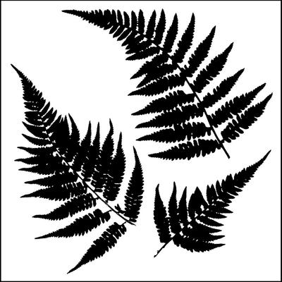 Pochoir motif fougères - 15X15cm
