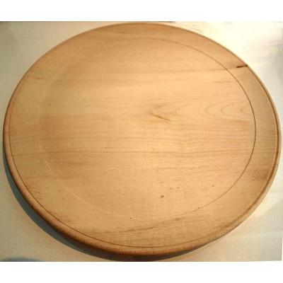 Assiette en bois brut à décorer