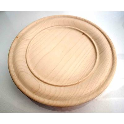 Assiette en bois moulurée - 20cm