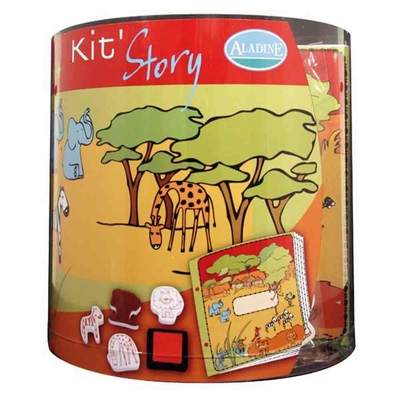 Kit story (Aladine) - Livre à illustrer - La savane