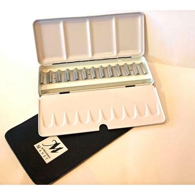Boîte métal vide pour aquarelle -12  tubes 5ml