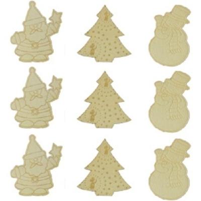 Mini déco motifs Noël en bois à décorer