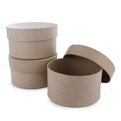 Lot 3 boîtes rondes en carton - 80X50mm