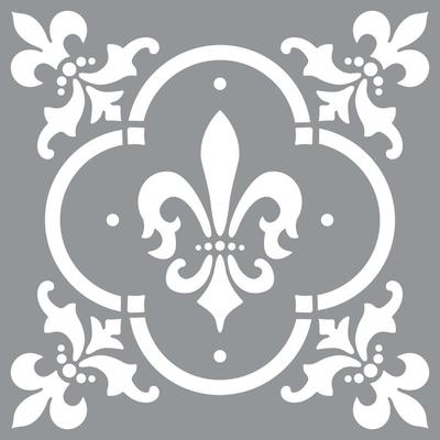 "Pochoir motif ""Fleur de Lys"" - Americana Decor Stencil - 30X30cm"