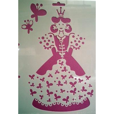 Pochoir - La princesse