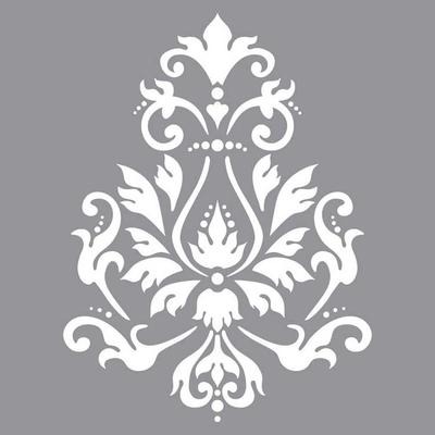"Pochoir motif ""Brocade"" - Americana Decor Stencil - 30X30cm"