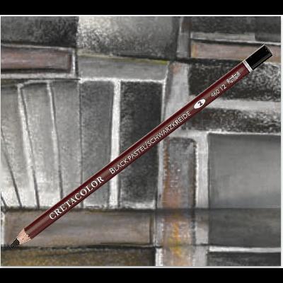 Crayon pastel noir (craie noire) - Cretacolor