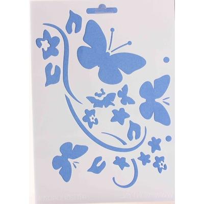 """Pochoir """"envol de papillons"""" - 15x21cm"""