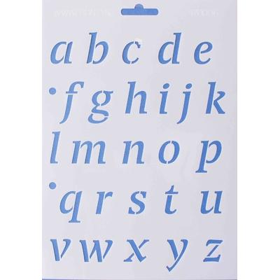 Pochoir Alphabet Minuscule - 16,8x24 cm