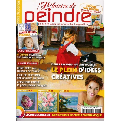 Revue Plaisirs de peindre - N°28 -août/oct  2008