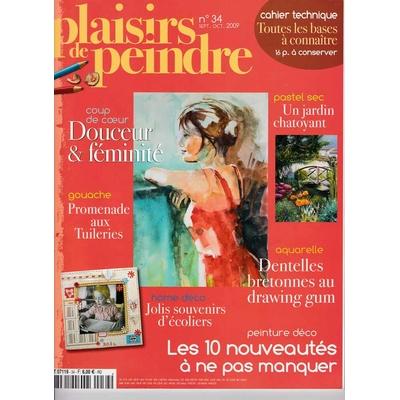 Revue Plaisirs de peindre - N°34 -sept/oct  2009
