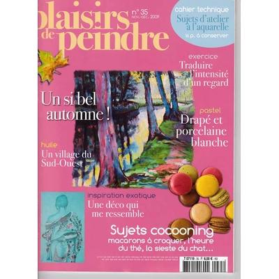 Revue Plaisirs de peindre - N°35 -nov/dec  2009