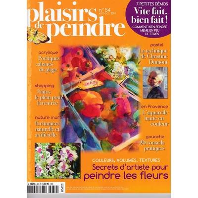 Revue Plaisirs de peindre - N°54 - août/oct 2014