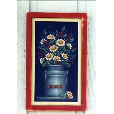 Granite pail with daisies - Lucy Gertscher