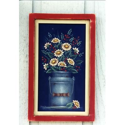 Granite pail with daisies - Lucy Gertscher