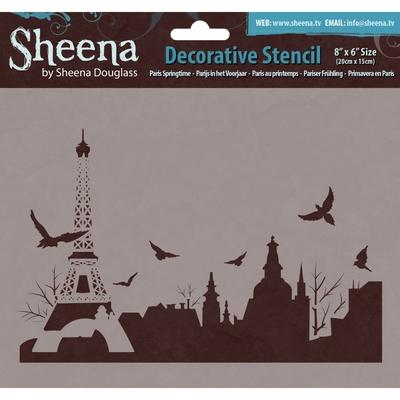 """Pochoir plastique """"Paris au printemps"""" - Sheena Douglass"""