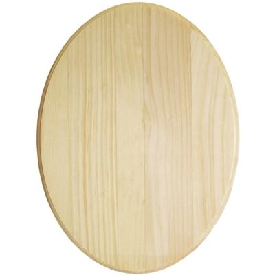 "Plaque ovale en pin - 9x12"" (22,9X30,5cm)"