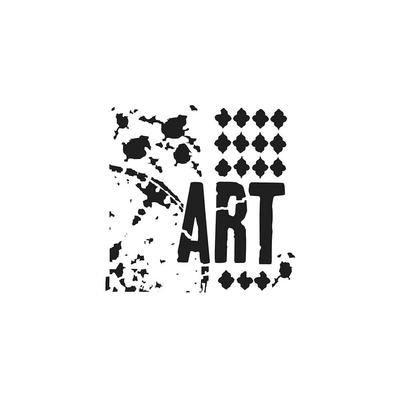 """Pochoir motif """"mini vive l'Art"""" - 15x15cm - TCW"""