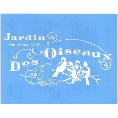"""Pochoir motif """"jardin des oiseaux"""" - 21,5x28cm"""