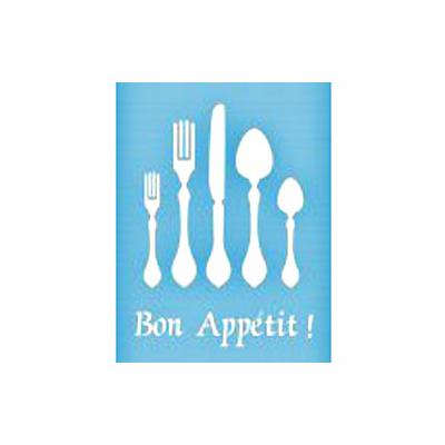 """Pochoir """"Bon Appétit"""" - 21,5cmX28cm"""