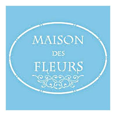 """Pochoir """"La maison des fleurs"""" - 30cmX30cm"""