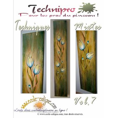 Les tulipes - Techniques mixtes - Technipro Vol 7