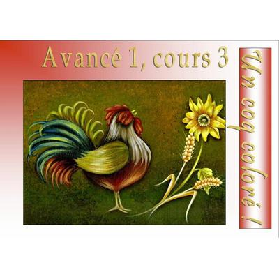 Un coq coloré - Véronique Landry