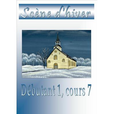 L'Eglise, scène d'hiver - Véronique Landry