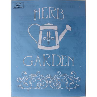 "Pochoir motif  jardin ""Herb Garden""- 21,5X28cm"