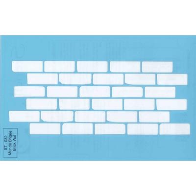 """Pochoir motif """"mur de brique"""" - 21,5x14cm"""