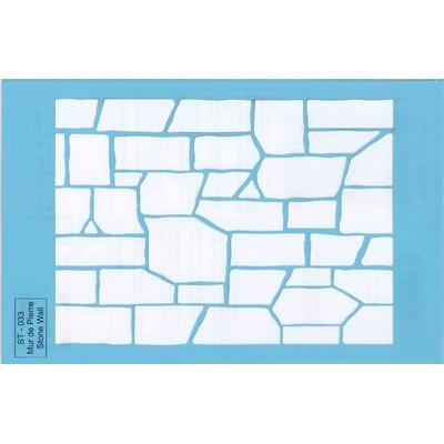 """Pochoir motif """"mur de pierre"""" - 21,5x14cm"""