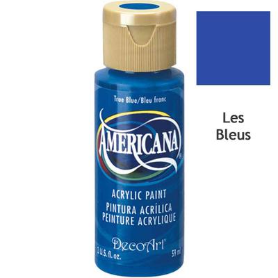 Acrylique Americana (DecoArt) - 59ml - nuances bleues
