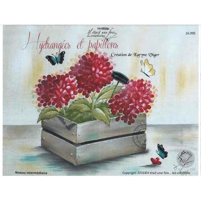 Hydrangées et papillons - Karyne Viger