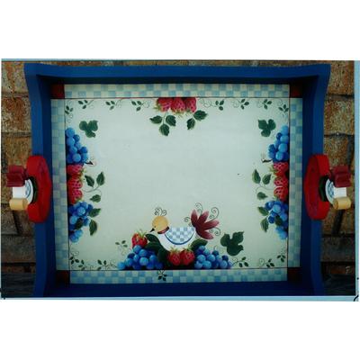 Bird & strawberry tray - Rosemary West