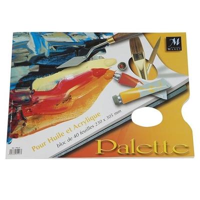Palette pelable 40 feuilles - 230X305mm - Manet