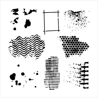 """Pochoir motif """"mini texturized"""" - 15x15cm -TCW"""