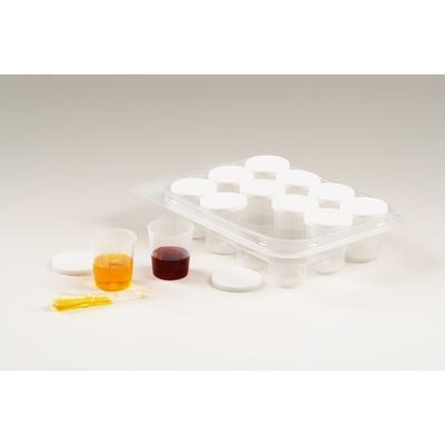 12 pots en plastique gradués - 30ml + 1 pipette