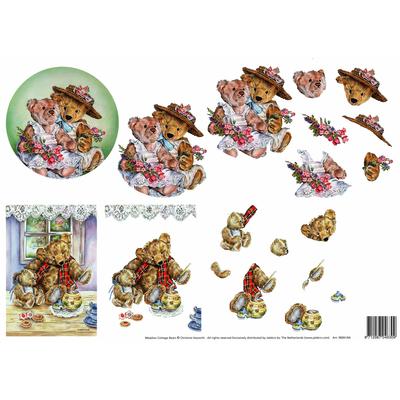 planche d'images pour cartes 3D - A4 - oursons3