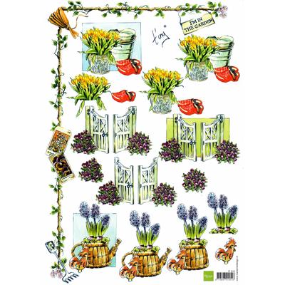 planche d'images pour cartes 3D - A4 - The garden 4