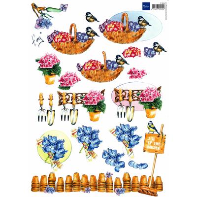 planche d'images pour cartes 3D - A4 - The garden 5
